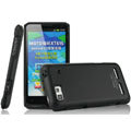 IMAK Ultrathin Matte Color Covers Hard Cases for Motorola XT615 - Black