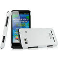 IMAK Ultrathin Matte Color Covers Hard Cases for Motorola XT615 - White
