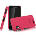 IMAK Ultrathin Matte Color Covers Hard Cases for Motorola XT760 - Rose