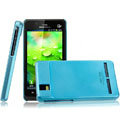 IMAK Ultrathin Matte Color Covers Hard Cases for Motorola XT928 - Blue