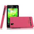 IMAK Ultrathin Matte Color Covers Hard Cases for Motorola XT928 - Rose