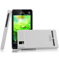 IMAK Ultrathin Matte Color Covers Hard Cases for Motorola XT928 - White