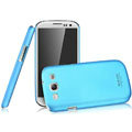 IMAK Ultrathin Matte Color Covers Hard Cases for Samsung Galaxy SIII S3 I9300 I9308 I939 I535 - Blue