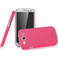 IMAK Ultrathin Matte Color Covers Hard Cases for Samsung Galaxy SIII S3 I9300 I9308 I939 I535 - Rose