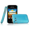 IMAK Ultrathin Matte Color Covers Hard Cases for Samsung S5360 Galaxy Y I509 - Blue