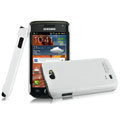 IMAK Ultrathin Matte Color Covers Hard Cases for Samsung i8150 Galaxy W - White