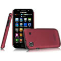 IMAK Ultrathin Matte Color Covers Hard Cases for Samsung i9003 - Red