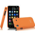 IMAK Ultrathin Matte Color Covers Hard Cases for Samsung i9008L - Orange
