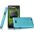 IMAK Ultrathin Matte Color Covers Hard Cases for Samsung i9103 Galaxy R - Blue