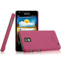IMAK Ultrathin Matte Color Covers Hard Cases for Samsung i919 GALAXY SII - Rose