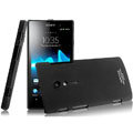 IMAK Ultrathin Matte Color Covers Hard Cases for Sony Ericsson LT28i Xperia ion - Black
