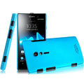 IMAK Ultrathin Matte Color Covers Hard Cases for Sony Ericsson LT28i Xperia ion - Blue