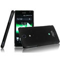 IMAK Ultrathin Matte Color Covers Hard Cases for Sony Ericsson LT29i Xperia Hayabusa Xperia GX/TX - Black