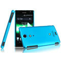 IMAK Ultrathin Matte Color Covers Hard Cases for Sony Ericsson LT29i Xperia Hayabusa Xperia GX/TX - Blue