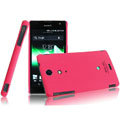 IMAK Ultrathin Matte Color Covers Hard Cases for Sony Ericsson LT29i Xperia Hayabusa Xperia GX/TX - Rose