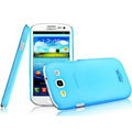 IMAK Water Jade Shell Hard Cases Covers for Samsung Galaxy SIII S3 I9300 I9308 I939 I535 - Blue