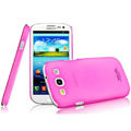 IMAK Water Jade Shell Hard Cases Covers for Samsung Galaxy SIII S3 I9300 I9308 I939 I535 - Rose