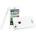 IMAK Water Jade Shell Hard Cases Covers for iPhone 5 - White