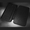 Battery back Cover Siamese holster leather cases Skin for Samsung N7100 GALAXY Note2 - Black