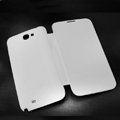Battery back Cover Siamese holster leather cases for Samsung N7100 GALAXY Note2 - White