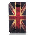 Britain flag Side Flip leather Cases Covers for Samsung N7100 GALAXY Note2 - Red