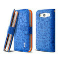 IMAK Candy holster leather Cases Covers Skin for Samsung Galaxy SIII S3 I9300 I9308 I939 I535 - Blue