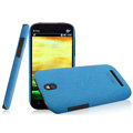 IMAK Cowboy Shell Quicksand Hard Cases Covers for HTC T528t One ST - Blue