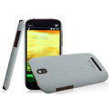IMAK Cowboy Shell Quicksand Hard Cases Covers for HTC T528t One ST - Gray