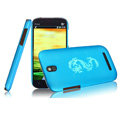 IMAK Ultrathin Dragon Color Covers Hard Cases for HTC T528t One ST - Blue