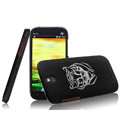 IMAK Ultrathin Tiger Color Covers Hard Cases for HTC T528t One ST - Black