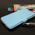 Leather Cases with stent holster Covers skin for Samsung N7100 GALAXY Note2 - Blue