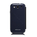 Nillkin Ultrathin leather flip cases Holster Covers for Samsung Galaxy SIII S3 I9300 I9308 I939 I535 - Blue