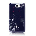 Nillkin flower Hard Cases Skin Covers for Samsung N7100 GALAXY Note2 - Blue