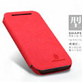 Nillkin leather Cases Holster Covers Skin for HTC T528t One ST - Red
