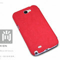 Nillkin leather Cases Holster Covers Skin for Samsung N7100 GALAXY Note2 - Red