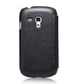 Nillkin leather Cases Holster Covers for Samsung I8190 GALAXY SIII Mini - Black