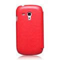 Nillkin leather Cases Holster Covers for Samsung I8190 GALAXY SIII Mini - Red