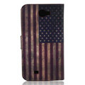 USA American flag Side Flip leather Cases Covers for Samsung N7100 GALAXY Note2 - Red