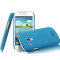 IMAK Cowboy Shell Quicksand Hard Cases Covers for Samsung I8190 GALAXY SIII Mini - Blue