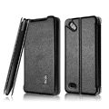 IMAK Cross leather Cases Holster Covers for HTC T528d One SC - Black