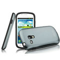 IMAK Metal Hard Cases Color Covers for Samsung I8190 GALAXY SIII Mini - Gray