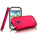 IMAK Metal Hard Cases Color Covers for Samsung I8190 GALAXY SIII Mini - Rose