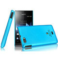 IMAK Ultrathin Matte Color Covers Hard Cases for Sony Ericsson ST23i Xperia miro - Blue