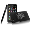 IMAK Ultrathin Tiger Color Covers Hard Cases for HTC T528d One SC - Black