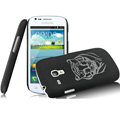 IMAK Ultrathin Tiger Color Covers Hard Cases for Samsung I8190 GALAXY SIII Mini - Black