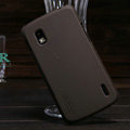 Nillkin Super Matte Hard Cases Skin Covers for LG E960 Nexus 4 - Brown