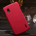 Nillkin Super Matte Hard Cases Skin Covers for LG E960 Nexus 4 - Red