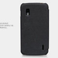 Nillkin leather Cases Holster Covers Skin for LG E960 Nexus 4 - Black