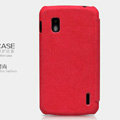 Nillkin leather Cases Holster Covers Skin for LG E960 Nexus 4 - Red
