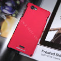 Nillkin Matte Hard Cases Covers for Sony Ericsson ST26i Xperia J - Red